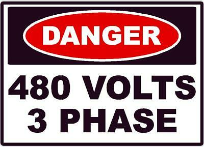 DANGER HIGH VOLTAGE DECAL SAFETY SIGN OSHA ELECTRICAL ELECTRICIAN