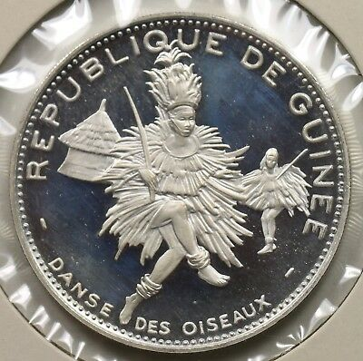 Republic Of Guinee 1969 500 Francs Guineens Proof Oiseau Dancers Silver
