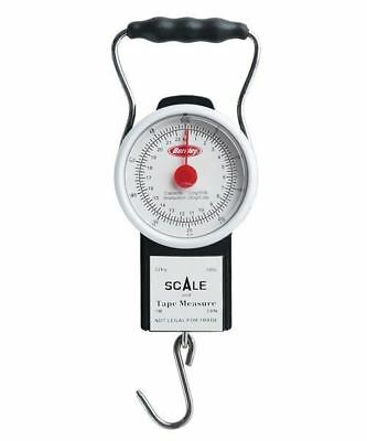 Berkley 50 lb Fish Scale With Tape / Fishing Weighing Scale