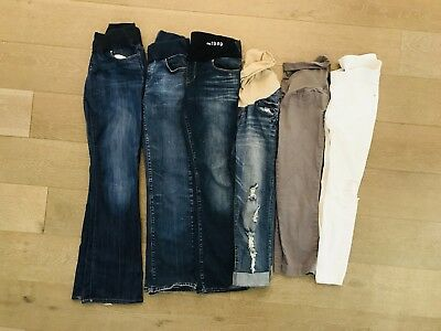 Lot Of 6 Pairs Maternity Jeans Pants Size 4/6 Small GAP Wendy Bellissimo