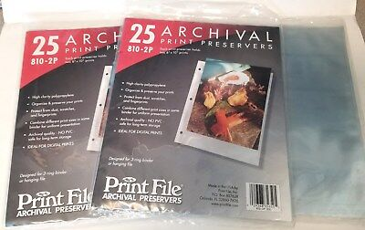 """71x Print File 8 x 10"""" Photo Pages Sleeves Clear Archival Preservers 810-2P NEW"""
