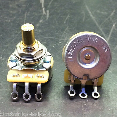 1x EMERSON PRO CTS 1 MEG 1M 8% TOLERANCE AUDIO TAPER SOLID SHAFT POTENTIOMETER