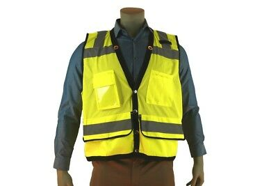Indian River High Visibility  Green Mesh Heavy Duty Safety Vest 8 Pocket Class 2