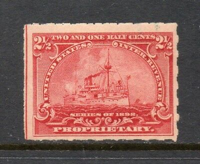Scott # RB28p, unused, HR, F, 2½¢ Proprietary, 1898, Battleship