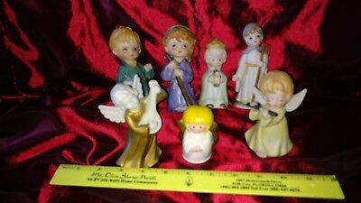 lot of 7 CHRISTMAS Porcelain Figurines and ANGELS