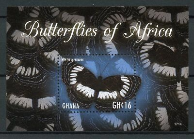Ghana 2017 MNH Butterflies of Africa 1v S/S Butterfly Insects Stamps