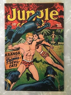Jungle Comics #80 Fn/vf- Fiction House Pre Code  Bondage Jungle Girl Cover 1946