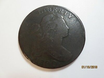 rare 1800 Draped Bust Large cent VG condition