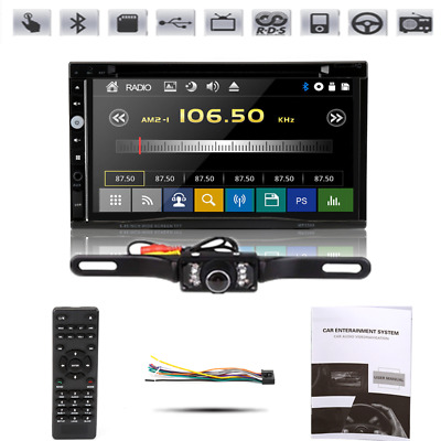 """7""""Car Stereo Radio DVD Player Sony Lens Double 2Din iPod Bluetooth TV MP3 RDS"""