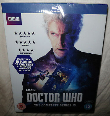 Bbc Doctor Who The Complete Series 10 (Blu Ray) - New And Sealed And Slipbox