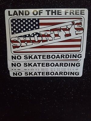 VERY RARE HARD TO FIND Shorty's 1990's No Skateboarding Stickers 10 pack