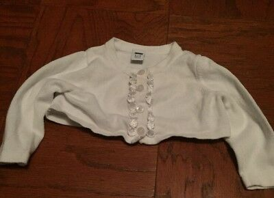 Janie And Jack White Sweater Size 6 To 12 Months Preowned
