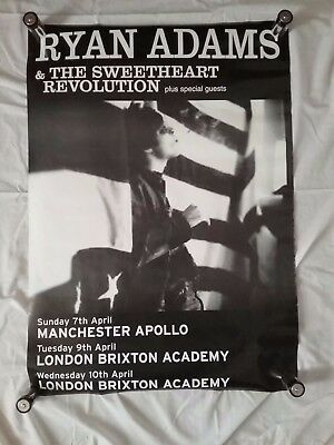 Ryan Adams & The Sweetheart Revolution Poster London Manchester Brixton Academy