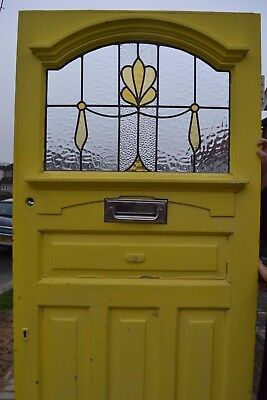 1920s/1930s British leaded light stained glass front door. R675a. DELIVERY!!!