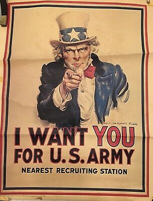Lot of 3~Vintage Vietnam~ WWI~ WW2 Recruiting~ Military~ Posters (742,743,744)