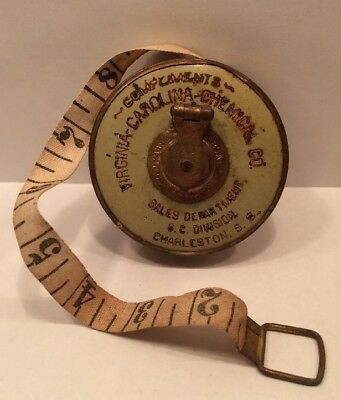 Universal Cloth Vintage Tape Measure Virginia Carolina Chemical Co. Advertising