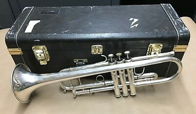 Wisemann DTR-800 Silver Plated Trumpet with hard case
