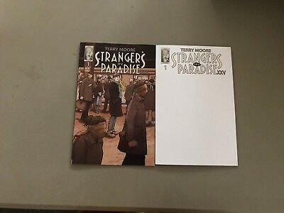 2x STRANGERS IN PARADISE XXV 1; SKETCH VARIANT Terry Moore Abstract Studios
