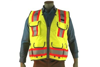 Indian River High Visibility  Green Heavy Duty Surveyors Vest Two-Toned Class 2