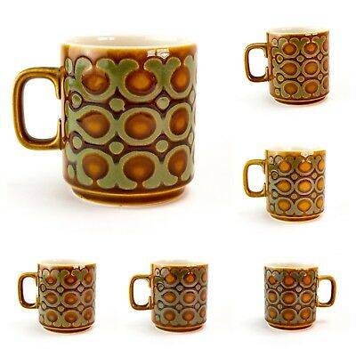 Wide Range of Hornsea Pottery Bronte Pattern Coffee / Tea Mugs  from the 70s