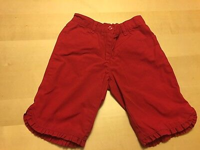 Janie And Jack Shorts, Red With Cute Ruffle Detail, Size 7