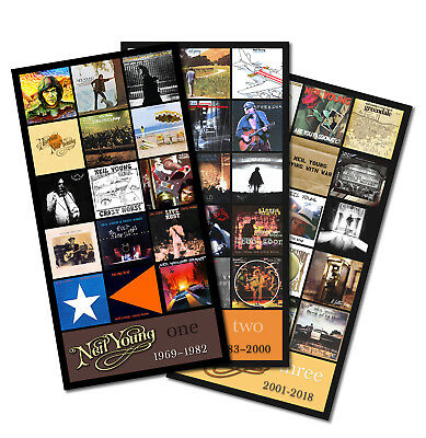 "NEIL YOUNG triple pack discography magnets (4.75"" x 3.75"" ea.) stones dylan CSNY"