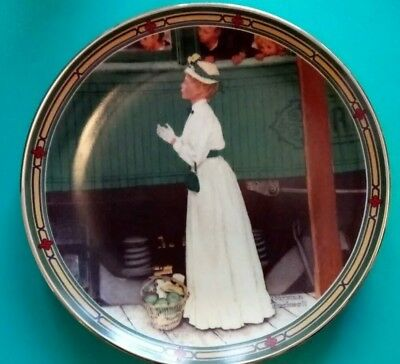 Norman Rockwell Collectible Plate A Mother's Welcome.