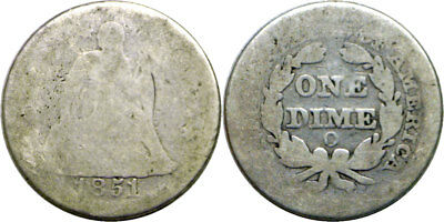 1851-O 10C Seated Liberty Dime Fair