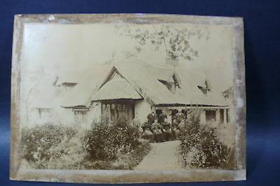 Early 1900s Vintage Large Photo of Family and House