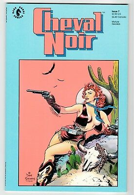 Dark Horse - CHEVAL NOIR #7 - Stevens Cover - NM 1990 Vintage Comic