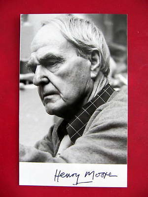 Henry Moore - Signed Letter of provenance & Autographed photo -  British Artist