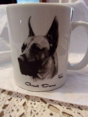 NWT Great Dane Dog Porcelain Mug Coffee Cup Vladimir Art  Rosalinde Best! NR