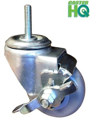 "CASTERHQ-3"" Stem Caster- 3/8"" x 1-1/2"" Threaded Stem- 1pc - 250 Lbs Capacity Per"
