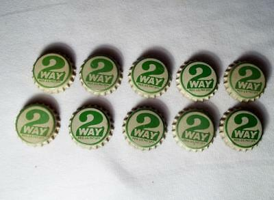 Lot Of 10 Vintage Unused 2 Way Soda Pop Bottle Caps Cork Lined