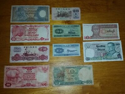 China Foreign Exchange Certificates 50 Fen , 5 Yuan & 10 Yuan from 1979
