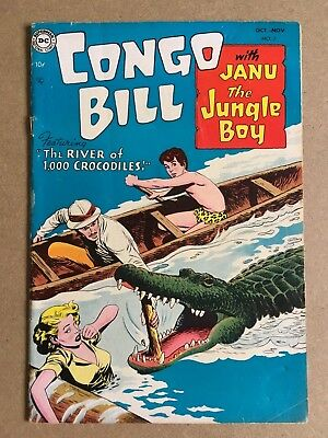 Congo Bill #2 Fn/fn- Dc Comics Very Rare Precode Nick Cardy Art And Story 1954