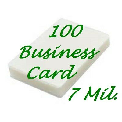 Laminating Pouches Sheets Business Card {100} 7 Mil 2-1/4 x 3-3/4  Free Carrier
