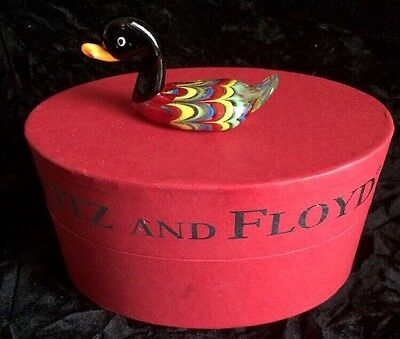 "Fitz & Floyd Glass Menagerie ""Chauncy"" Duck Figurine - Limited Edition"