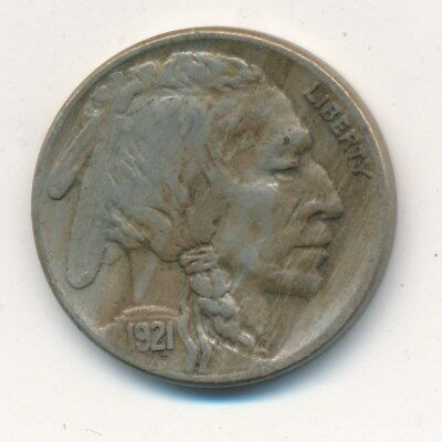 1921-S Buffalo Nickel-Key Date!! Very Nice Circulated Nickel-Ships Free! Inv:3
