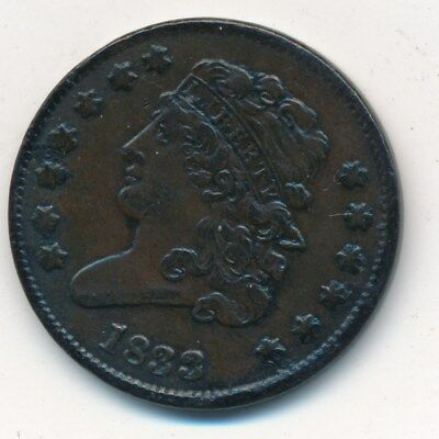 1833 Copper Classic Head Half Cent-Very Nice Circulated Type Coin- Ships Free!