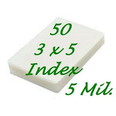 3 x 5 Laminating Laminator Pouches Sheets 5 ml Index Card 3.5 x 5.5 50 Pack