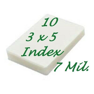 3 x 5 Laminating Laminator Pouches Sheets 3-1/2 x 5-1/2  7 Mil  10- Pack