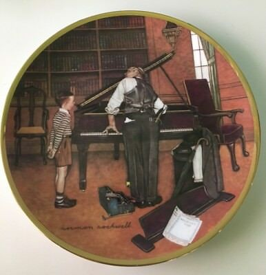 The Piano Tuner Collector Plate Norman Rockwell America At Work 1984