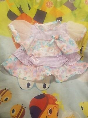 """Modern cabbage patch dress 16"""" Adorable!"""