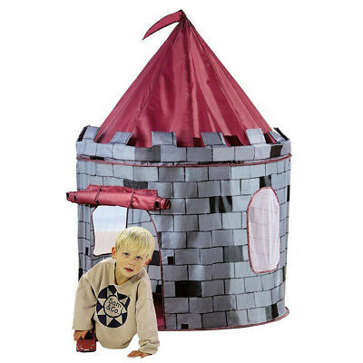 Portable Pop-up Play Tent Playhouse Castle House Hut for Kids Outdoor Travel Fun