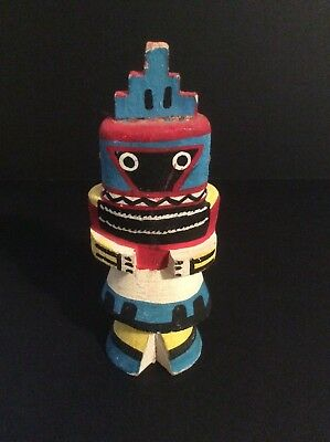 Large Vintage Hopi Whipper Route 66 Kachina Doll circa 1950s