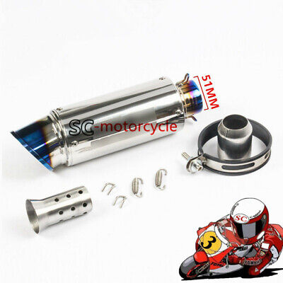 61mm Exhaust Pipe Titanium Vent Pipe Motorcycle Scooter Exhaust System Tail Pipe