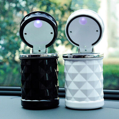 1PC Home Car LED Light Ashtray Auto Cigarette Ash Holder Cup Container Box AU