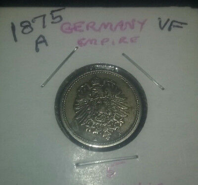 German coin 5 penning 1875 VF condition