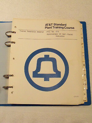 Bell System (At&t Ptc #213) Standard Administrator Of Self-Paced Instruction